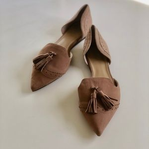 Vince Camuto Suede Halley Flats - Size 8.5